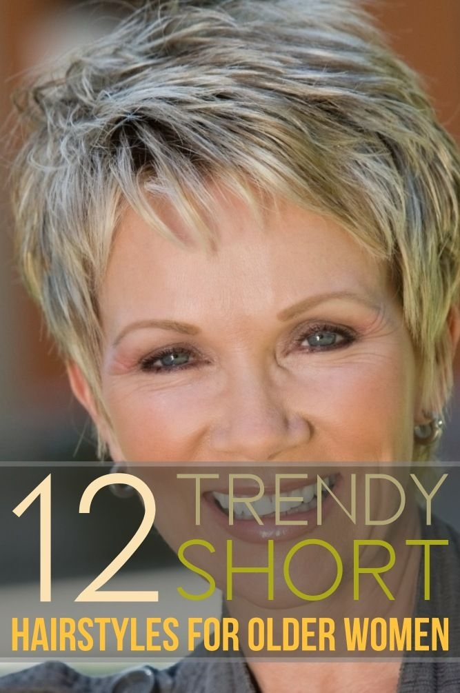 Trend 12 trendy short hairstyles for older women you should try Photos Of Short Haircuts For Older Women Choices