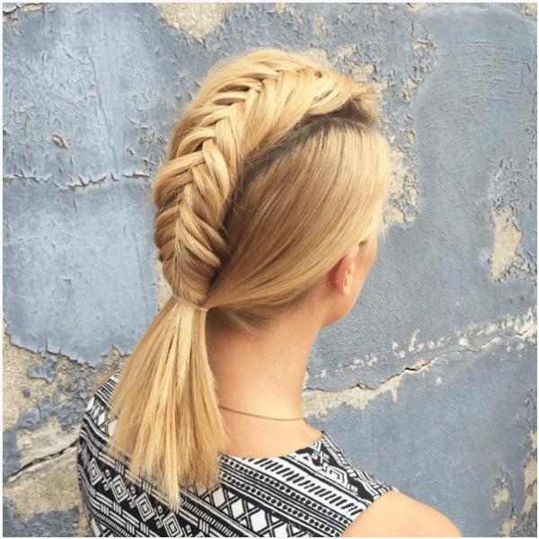 Trend 19 cute braids for short hair you will love be modish Easy Fishtail Braid For Short Hair Choices