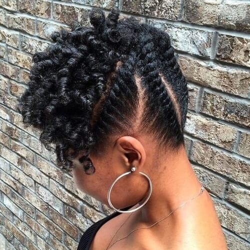 Trend 50 cool ways you can sport updos for short hair hair African American Pin Up Hairstyles For Short Hair Designs