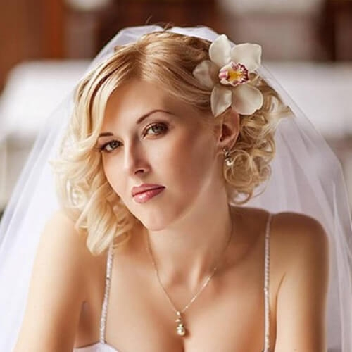 Trend 50 superb wedding looks to try if you have short hair hair Short Hair Wedding Styles With Veil Inspirations