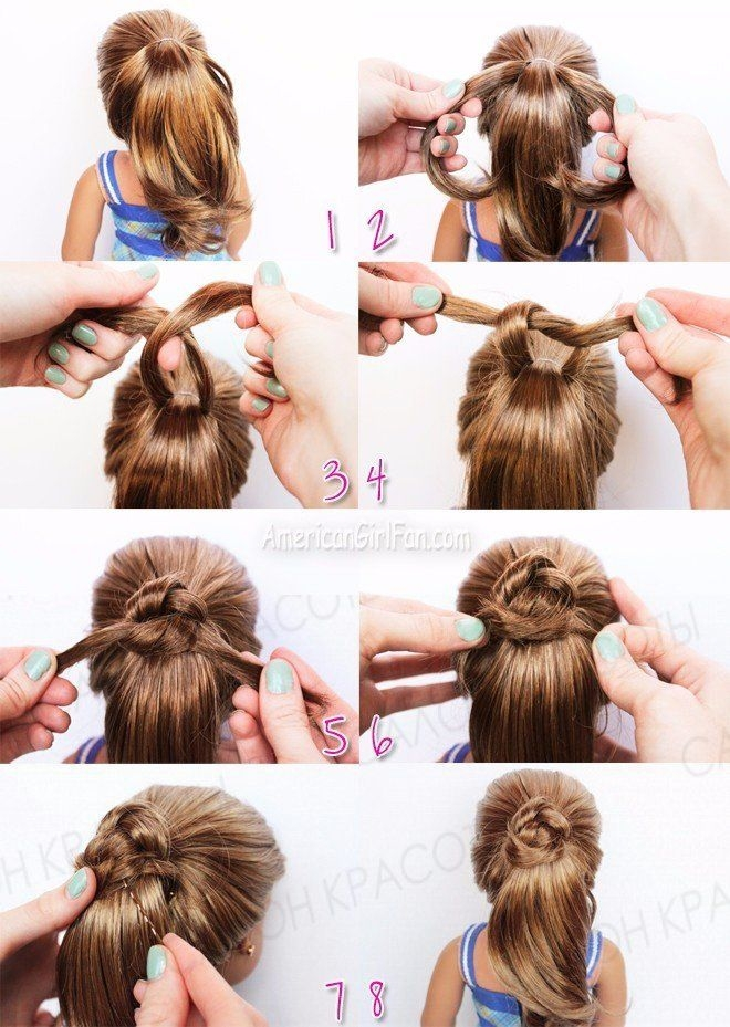 Trend american girl doll hairstyles fancy ponytail Cute And Easy Hairstyles For Your American Girl Doll