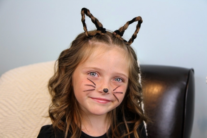 Trend braided kitty cat ears halloween hairstyles cute girls Cute Halloween Hairstyles For Short Hair Inspirations