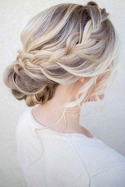 Trend messy braid hair styles braided hairstyles updo wedding Loose Braid Updo Long Hair Inspirations