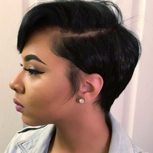 Trend side parted pixie bob for black women hair styles short Cute Short Hairstyles For African Americans Designs