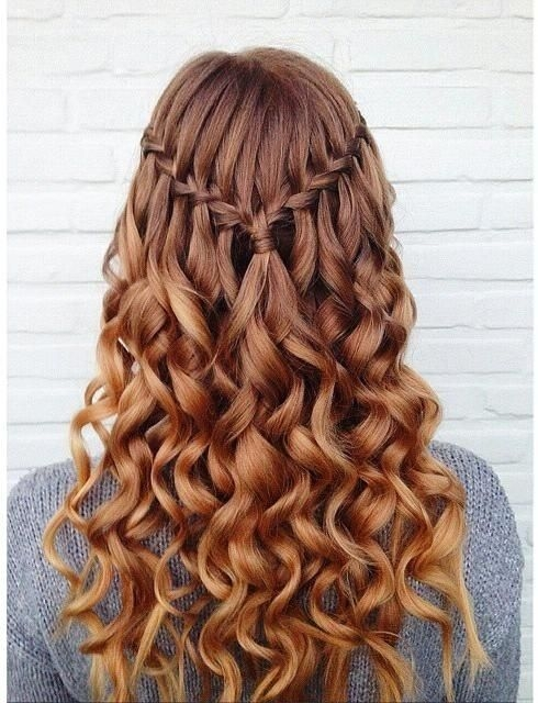 10 pretty waterfall french braid hairstyles different Braid Hairstyles For Medium Curly Hair Choices