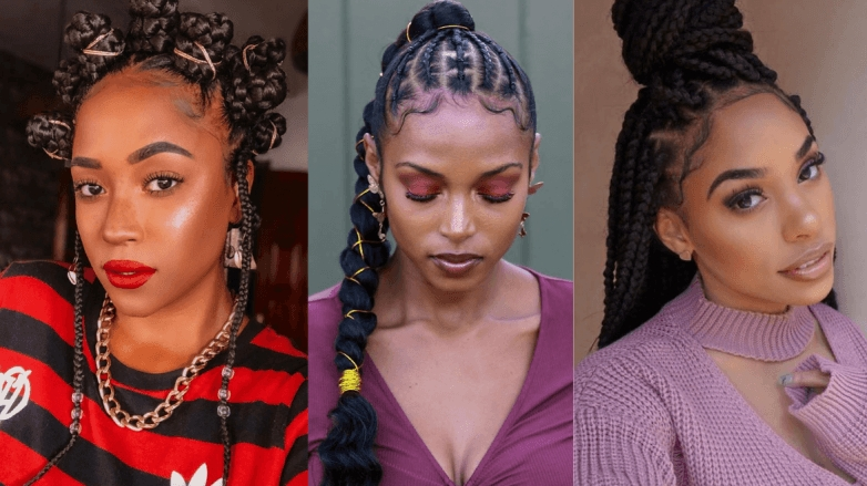 105 best braided hairstyles for black women to try in 2020 French Braids Styles Black Hair Ideas