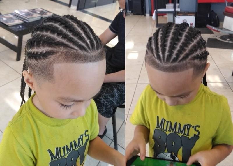 15 best cornrow styles for boys 2019 update child insider Cornrow Hairstyles For Little Boys