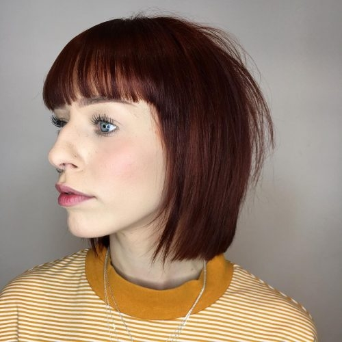 17 hottest short bob with bangs youll see in 2020 Short Bob Haircut With Bangs Choices