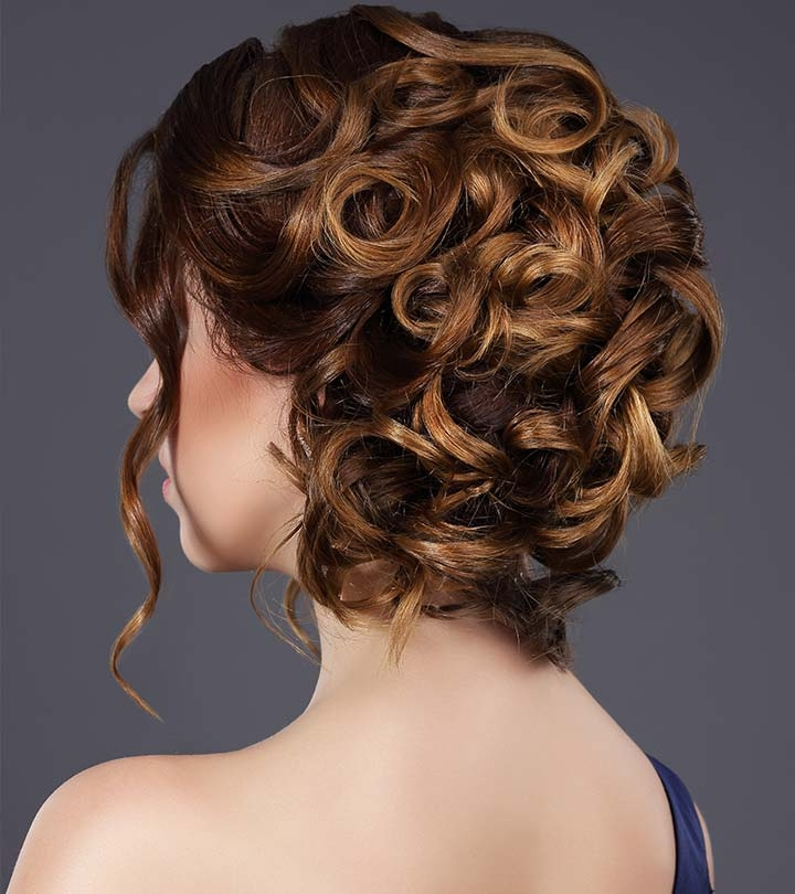 20 incredibly stunning diy updos for curly hair Short Curly Hair Updo Styles Choices