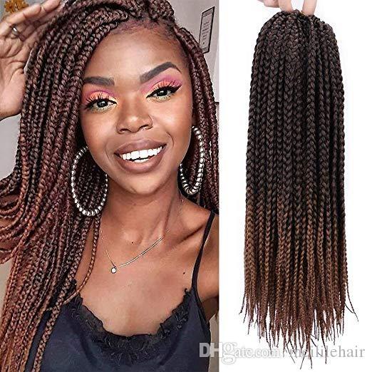 2020 18 inch straight box braids crochet hair extensions dreadlocks twist crochet braids hairstyles kanekalon braiding hair braid styles from Crochet Hair Braiding Styles Inspirations