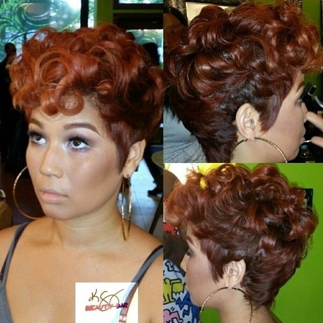 22 easy short hairstyles for african american women African American Short Hairstyles With Color