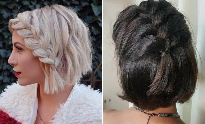 23 quick and easy braids for short hair stayglam Simple Braided Hairstyles For Short Hair Step By Step Inspirations