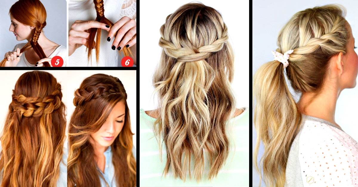 30 cute and easy braid tutorials that are perfect for any Easy Braided Hairstyles To Do At Home Step By Step Choices