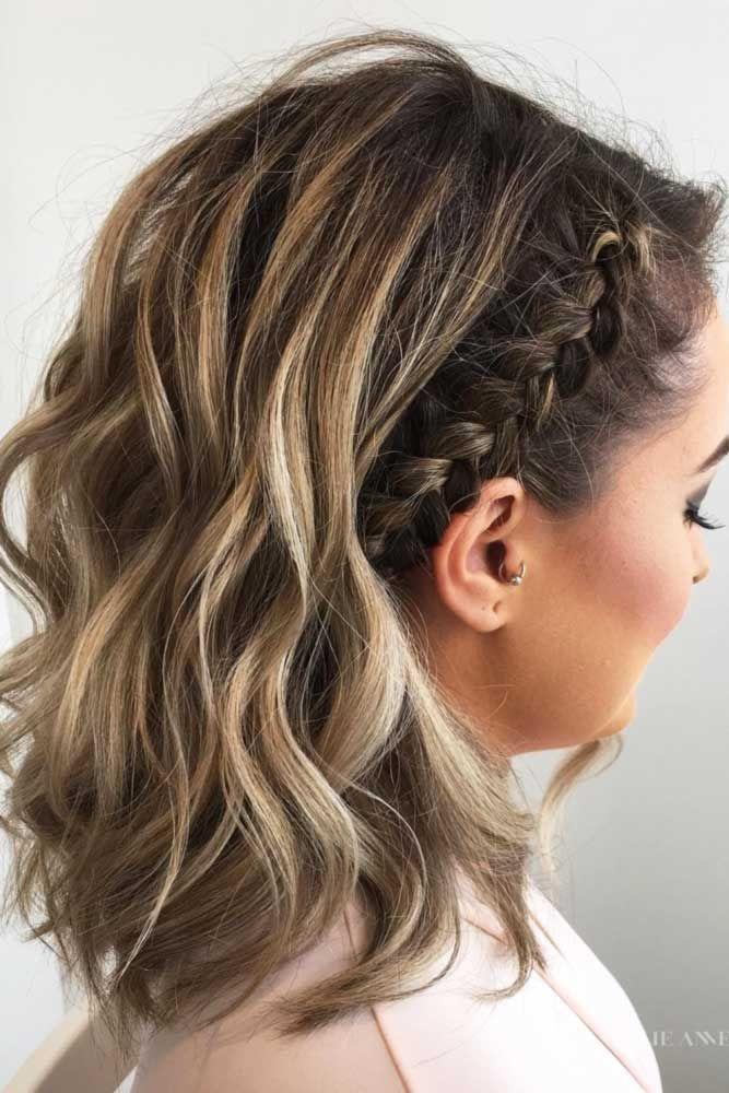 35 cute braided hairstyles for short hair lovehairstyles Hairstyles For Short Straight Hair Braids Choices