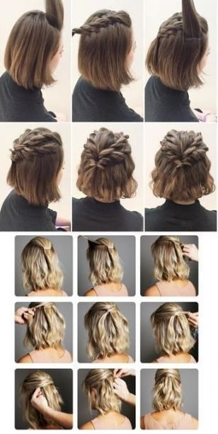 36 trendy hairstyles quick easy messy buns hairstyle women Updo Hairstyles For Short Hair Pinterest Ideas