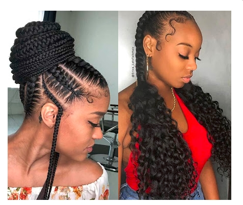 37 latest braids hairstyles ponytails with weave that will Latest Braid Hair Style Inspirations