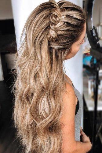 39 adorable braided wedding hair ideas wedding forward in Bridal Hairstyles Half Up Braid Choices