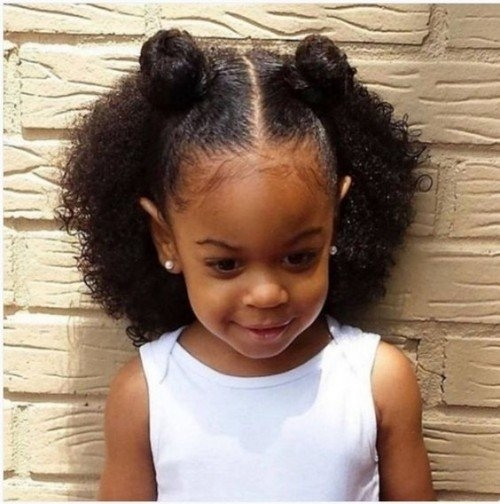 40 cute hairstyles for black little girls herinterest African American Little Girls Hair Styles Designs