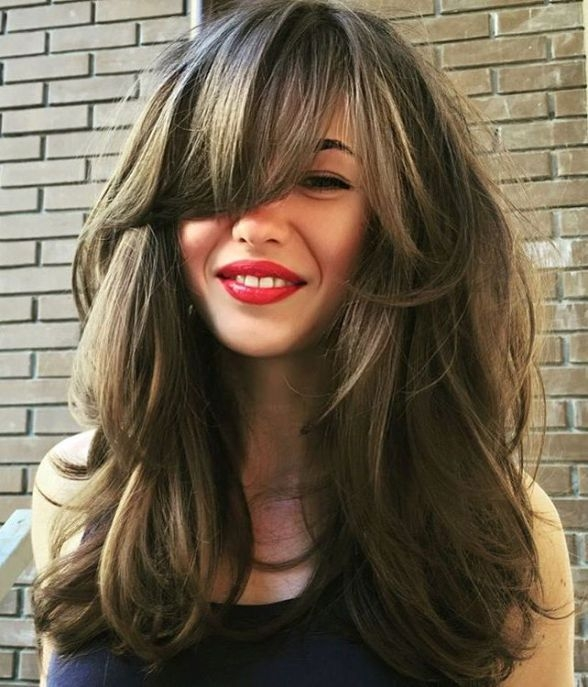 40 side swept bangs to sweep you off your feet hair styles Long Hair With Short Layers On Top And Side Bangs Inspirations