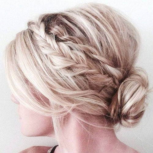 45 cute easy updos for short hair 2020 guide Easy Braided Updos For Shoulder Length Hair Choices