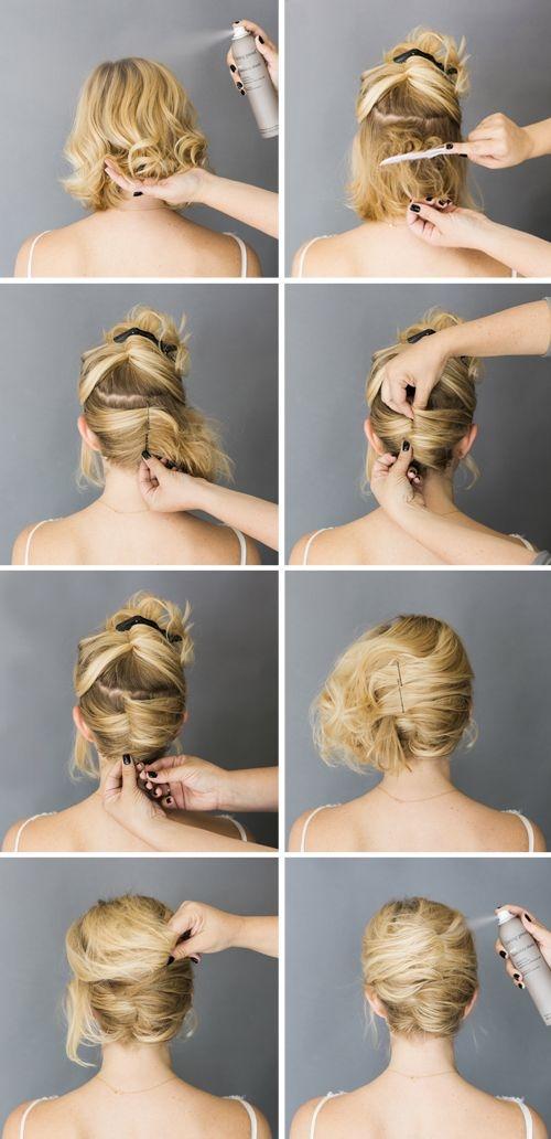 5 easy to follow short hair tutorials readers digest Easy Hairstyles For Short Hair Tutorials Choices