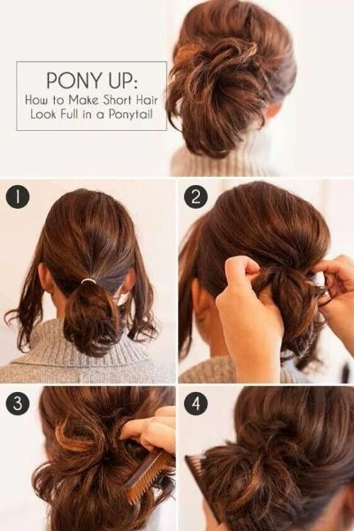 50 incredibly easy hairstyles for school to save you time Easy Hairstyles For Very Short Hair To Do At Home Step By Step Ideas