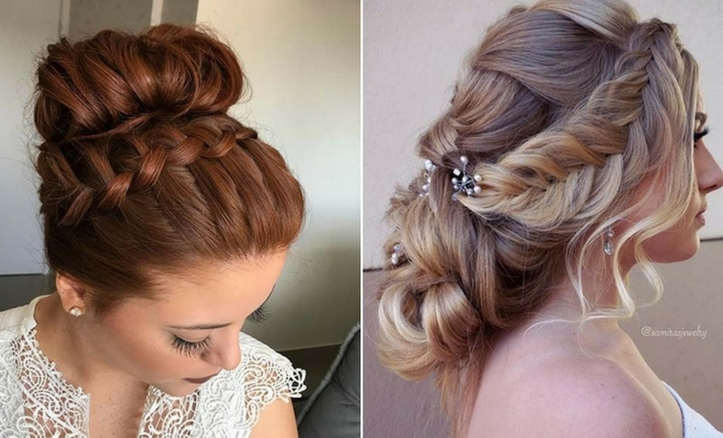 63 stunning prom hair ideas for 2020 stayglam Romantic Prom Hairstyle For Long Hair With Braided Flower Inspirations