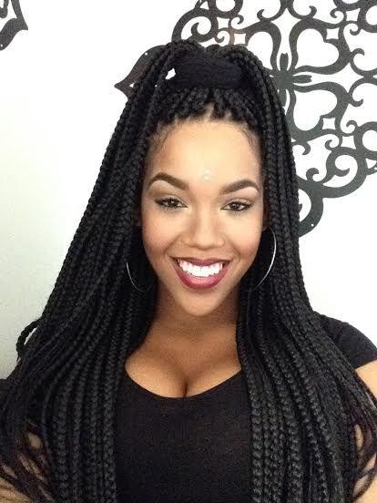 65 box braids hairstyles for black women African American Box Braids