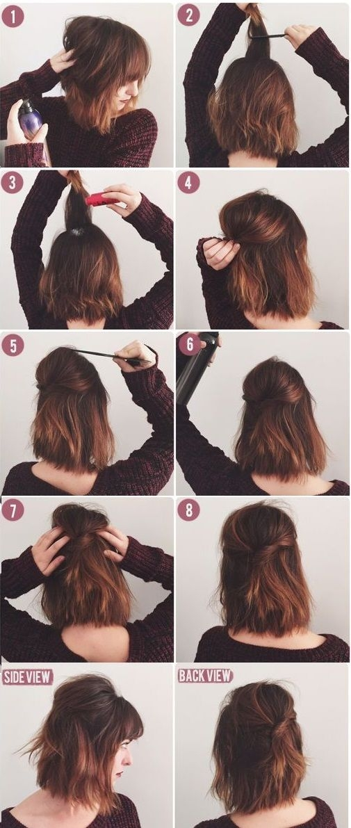 8 cute short hairstyles for everyday wear short hair Picture Day Hairstyles For Short Hair Ideas