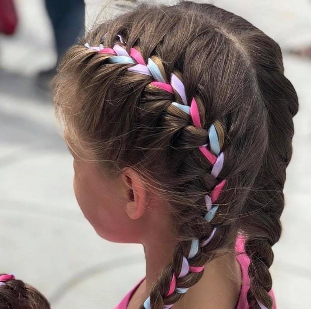 8 ribbon braid hairstyles for little girls hairstylecamp Ribbon Braid Hair Inspirations