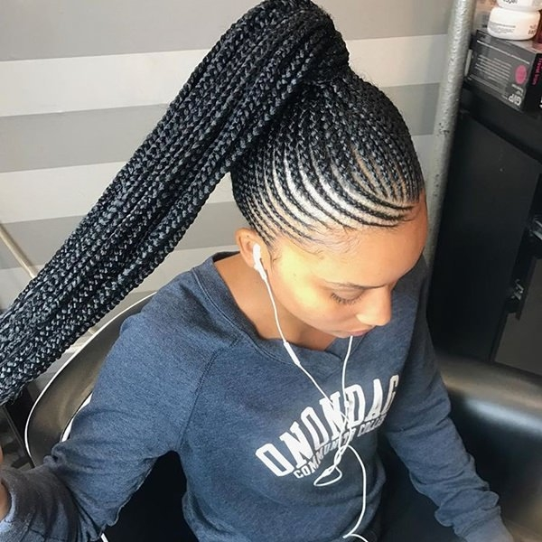 80 amazing feed in braids for 2020 Straight Up Cornrows Hairstyles