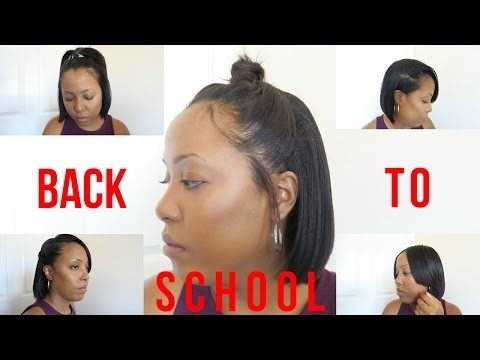 9 heatless back to school hairstyles for relaxed and Hairstyles For Relaxed African American Hair Ideas