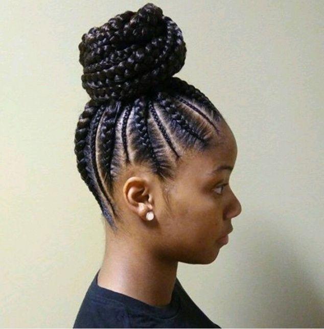 african american braided bun hairstyles natural hair Braided Bun Hairstyle AfricanAmerican Designs