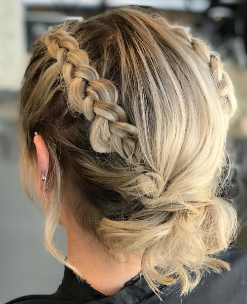 Awesome 1 prom hairstyle for short hair in 2020 is here 17 more Prom Hairstyles For Short Hair With Braids Ideas