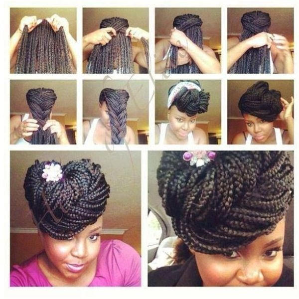 Awesome 10 gorgeous ways to style box braids bglh marketplace Styles For Packing Braided Hair Choices
