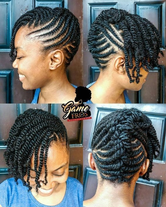 Awesome 10 holiday natural hairstyles for all length textures Natural Braided Hair Styles Choices