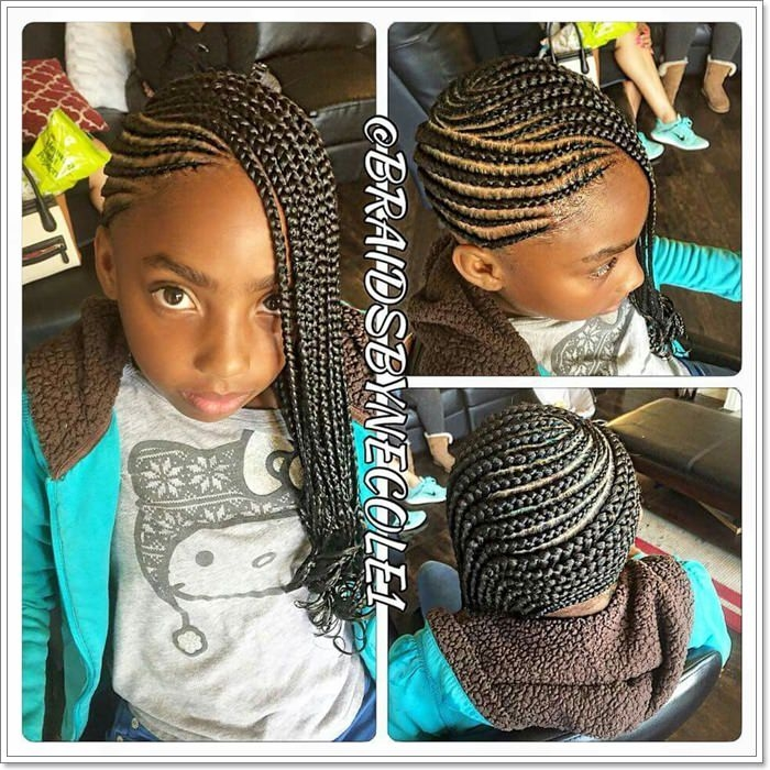 Awesome 103 adorable braid hairstyles for kids Kids Hair Braids Style Choices