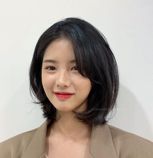 Awesome 15 asian short hairstyles that look modern short haircut Short Hair For Round Face Asian Inspirations