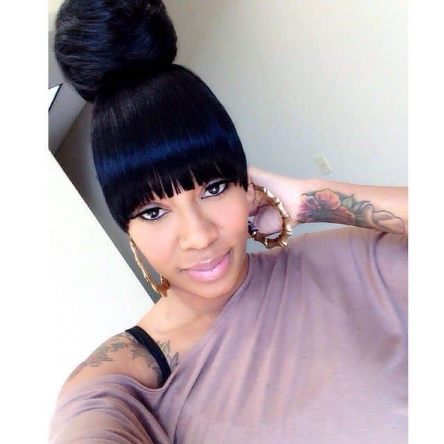 Awesome 17 unbeatable weave ponytails with bangs 2020 African American Ponytail Hairstyles With Bangs