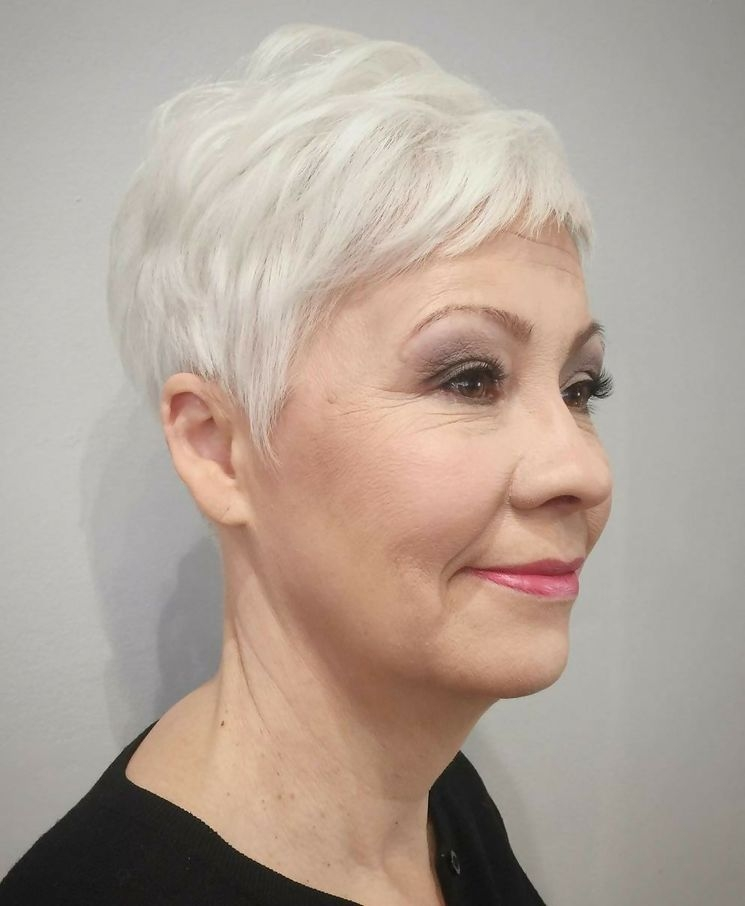 Awesome 20 stylish hairstyles for short grey hair over 60 4retirees Short Grey Hair Styles Choices