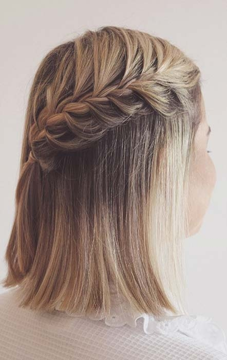 Awesome 23 quick and easy braids for short hair page 2 of 2 stayglam French Braid Ideas For Short Hair Choices
