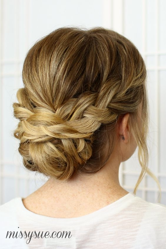 Awesome 25 chic braided updos for medium length hair hairstyles Braid Bun Hairstyles For Medium Hair Inspirations