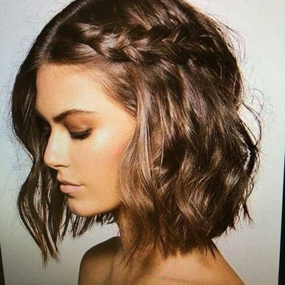 Awesome 27 braid hairstyles for short hair that are simply gorgeous Hairstyles For Short Straight Hair Braids Inspirations