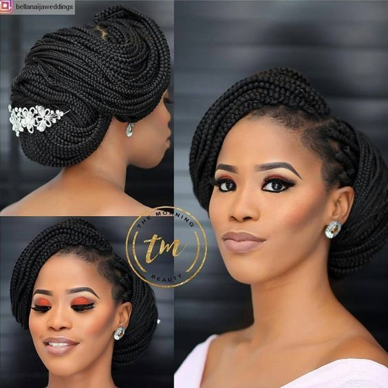 Awesome 30 beautiful wedding hairstyles for african american brides African American Braid Hairstyles For Weddings Designs