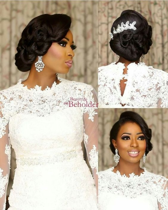 Awesome 30 beautiful wedding hairstyles for african american brides African American Bridal Hairstyles Designs