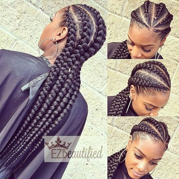 Awesome 31 stylish ways to rock cornrows page 2 of 3 stayglam African American Big Braids Ideas