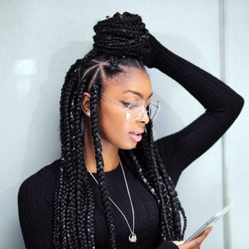 Awesome 35 best black braided hairstyles for 2020 Best Black Braid Hairstyles Ideas