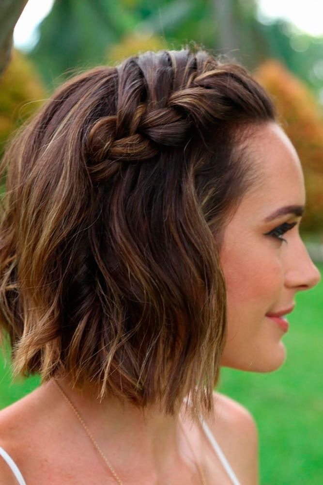 Awesome 35 cute braided hairstyles for short hair lovehairstyles Hairstyle Ideas With Short Hair Inspirations
