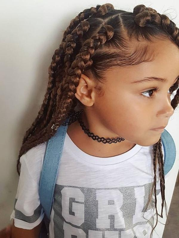 Awesome 37 trendy braids for kids with tutorials and images Children Hair Braided Styles Ideas