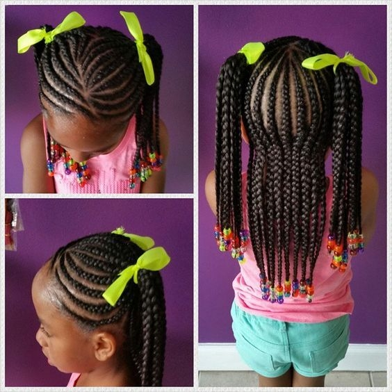 Awesome 40 braids for kids 40 braid styles for girls toddler African American Little Girl Braid Styles